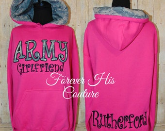 ARMY Girlfriend ARMY Wife Army mom Army Sister Army Strong Army Gf Military pullover Army pullover army hoodie