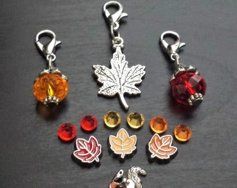 Fall Leaves Floating Charm Set for Floating Lockets-Gift Idea