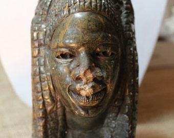 Africa Stone Sculpture/African Woman, Circa 1980