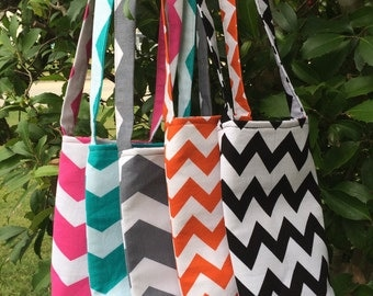 5 Bridesmaids Chevron Water Bottle Carriers, Water Bottle Holder, Water Bottle Cozy, Gifts