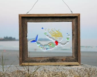 Mermaid Sea Glass or Beach Glass Window Art