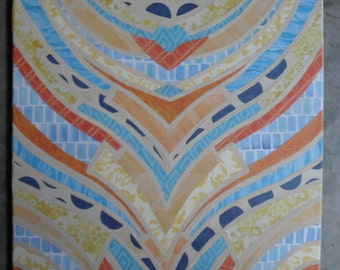 Summery Blue Yellow & Orange Decoupage