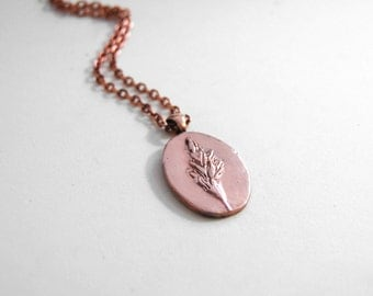 wheat grass copper pendant necklace *nature-inspired jewelry*