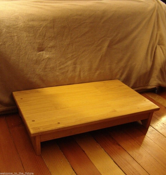 Handcrafted Heavy Duty Step Stool Solid Wood Bedside Bedroom Wooden Platform 14  x 24  x 5  h or 6  high more stains u0026 sizes available & Handcrafted Heavy Duty Step Stool Solid Wood Bedside islam-shia.org