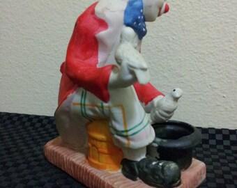 Ceramic Dove Clown