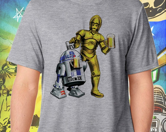 Star Wars R2 / 3PO Men's Full Color T-Shirt Dune Sea Cold Ones Star Wars Beer Tshirt