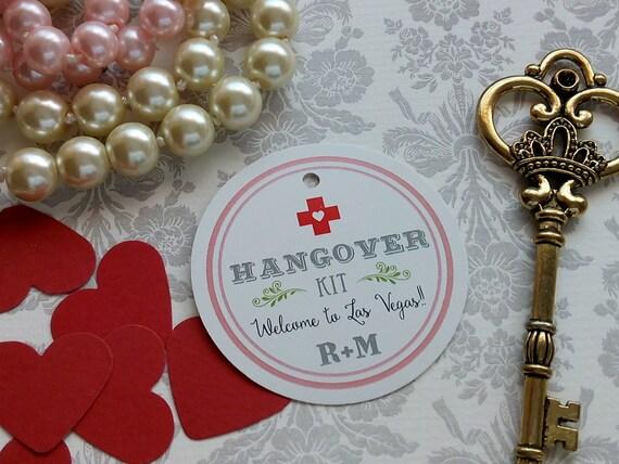 Wedding Favor Tag Kit : Kit Tags. Custom Wedding Favor Tags- Round Wedding Tags -Hangover Kit ...