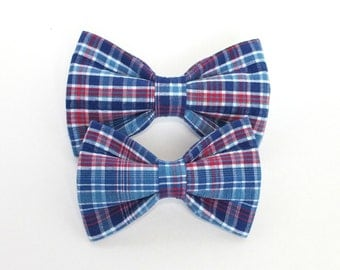 Royal & Red Dog Bow Tie, pet bow tie, collar bow tie, wedding bow tie