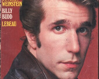 Fonzie, Happy Days, Henry Winkler, magazine, Top-Flight magazines, 1976, color centerfold, complete issue - PD000686