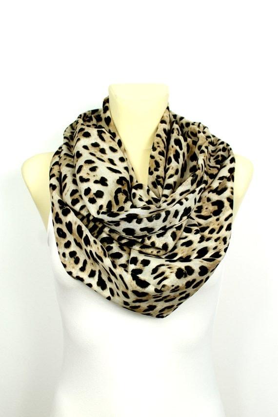 brown leopard infinity scarf leopard print scarf leopard