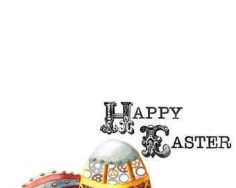 Steampunk Easter Eggs - Card