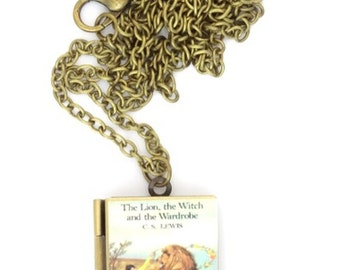 The Lion, the Witch and the Wardrobe book locket, C S Lewis, Chronicles of Narnia, Necklace
