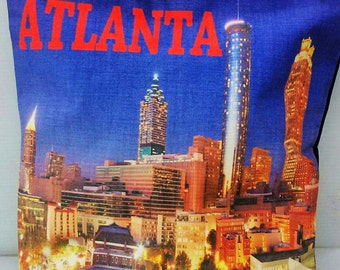 Atlanta Souvenir HandBag // Atlanta Tote Bag // With Zipper