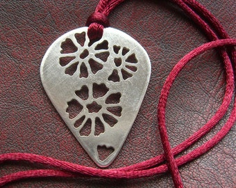 Sterling Silver Flower Fossil Necklace