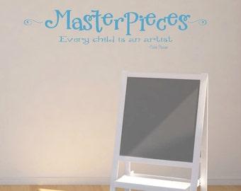 MasterPieces Wall Decal - Kids Art Display -  Kids Artwork Display -  Every Child is an Artist Wall Decal - Kids Art Wall