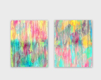 Instant Download Colorful Abstract Wall Art 2 Printable Images Home Decor Wall Decor 5x7, 8x10, 11x14 Colorful wall art