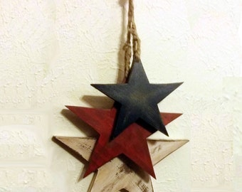Wooden Star Wall Decor hanging stars | etsy