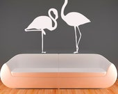 Wall Decals Flamingo Decal Vinyl Sticker Bathroom Kitchen Window Nursery Bedroom Home Decor Interior Design Art Murals MN713