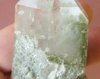 Large Chlorite included phantom quartz point