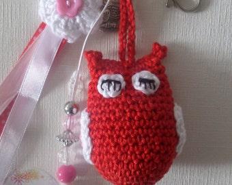 Keychain OWL closed eyelets