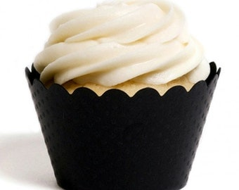 Black Cupcake Wrapper (Set of 12)
