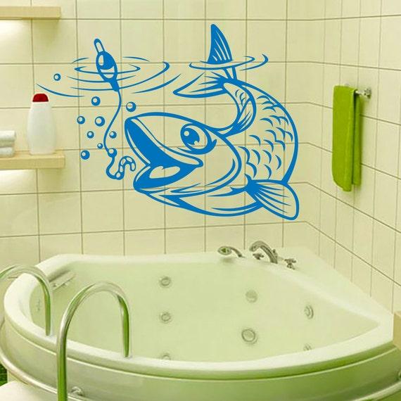 Wall Decals Fish Fishing Bubbles Vinyl Decal Art Mural Sticker