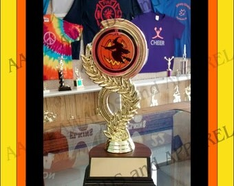 Halloween Trophy with Custom Engraved Brass Plate