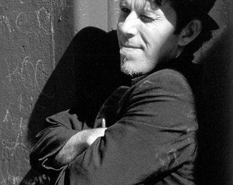 Tom Waits Poster, Avant-Garde Musician, Blues, Folk, Experimental, Jazz, Rock Music Icon