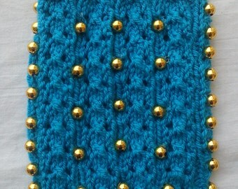 """Needlemade Mobile Cover/Pouch 4"""" x 6""""-Gift For Her-Needle Art"""