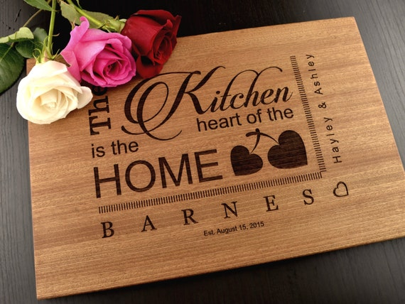 Personalized Wedding Gifts Kitchen : Personalized Cutting Board, Custom Anniversary Gift, Wedding or ...