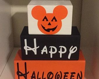 Disney Mickey Happy Halloween blocks