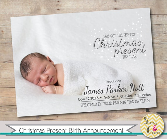 baby birth announcements templates for free - christmas birth announcement xmas baby photo christmas