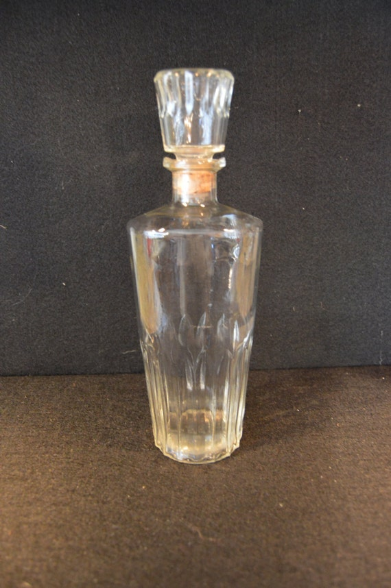 501 rare vintage cut glass liquor decanter ball d 126 77 for How to cut the bottom of a glass bottle