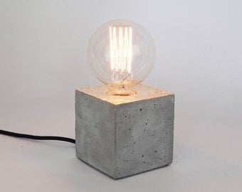 LJ LAMPS alpha gold - gilded concrete lamp