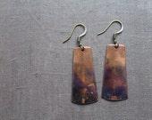 Oxidized Copper Earrings by YeouDesigns