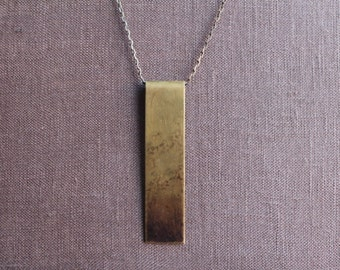 Reddened Brass Vertical Pendant by YeouDesigns