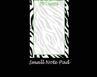 Small Zebra Note Pad