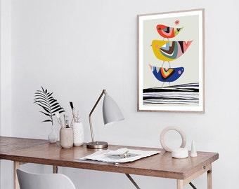 Family Tree Print, Bird, wall art home decor inspirational art wall decor printable Nursery Decor Kids Room Wall Art Nursery Prints Modern