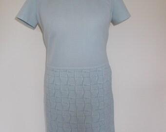 Vintage dress 60s mod scooter dress in baby blue size medium