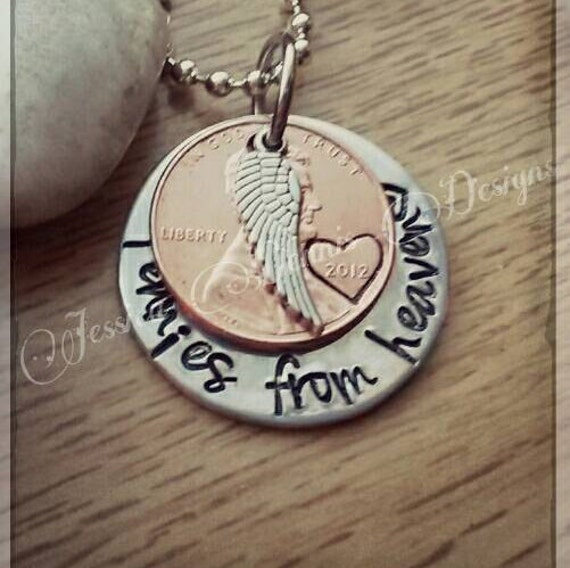 pennies from heaven sted necklace choose your year