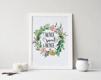 Cactus Art Print Etsy