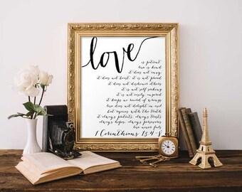 Christian Wall Art - 1 Corinthians 13:4-8
