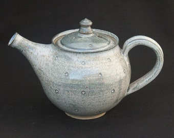 Hand thrown Stoneware Dotty Teapot