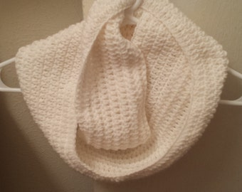 Solid Color Crochet Infinity Scarf
