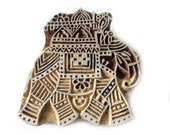 Indian Elephant Stamp Hand Carved Indian Stamps Wood Blocks Elephant Statue