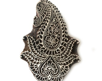 Paisley Block Print Stamp Indian Carved Wood Block Stamp Tjaps Scrapbook Stamp Clay Pottery Stamp Batik Fabric Printing Stamp FREE SHIPPING