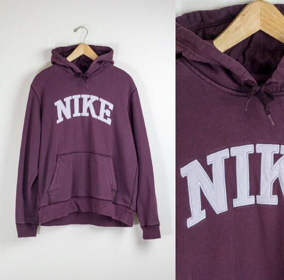 nike hoodie burgundy