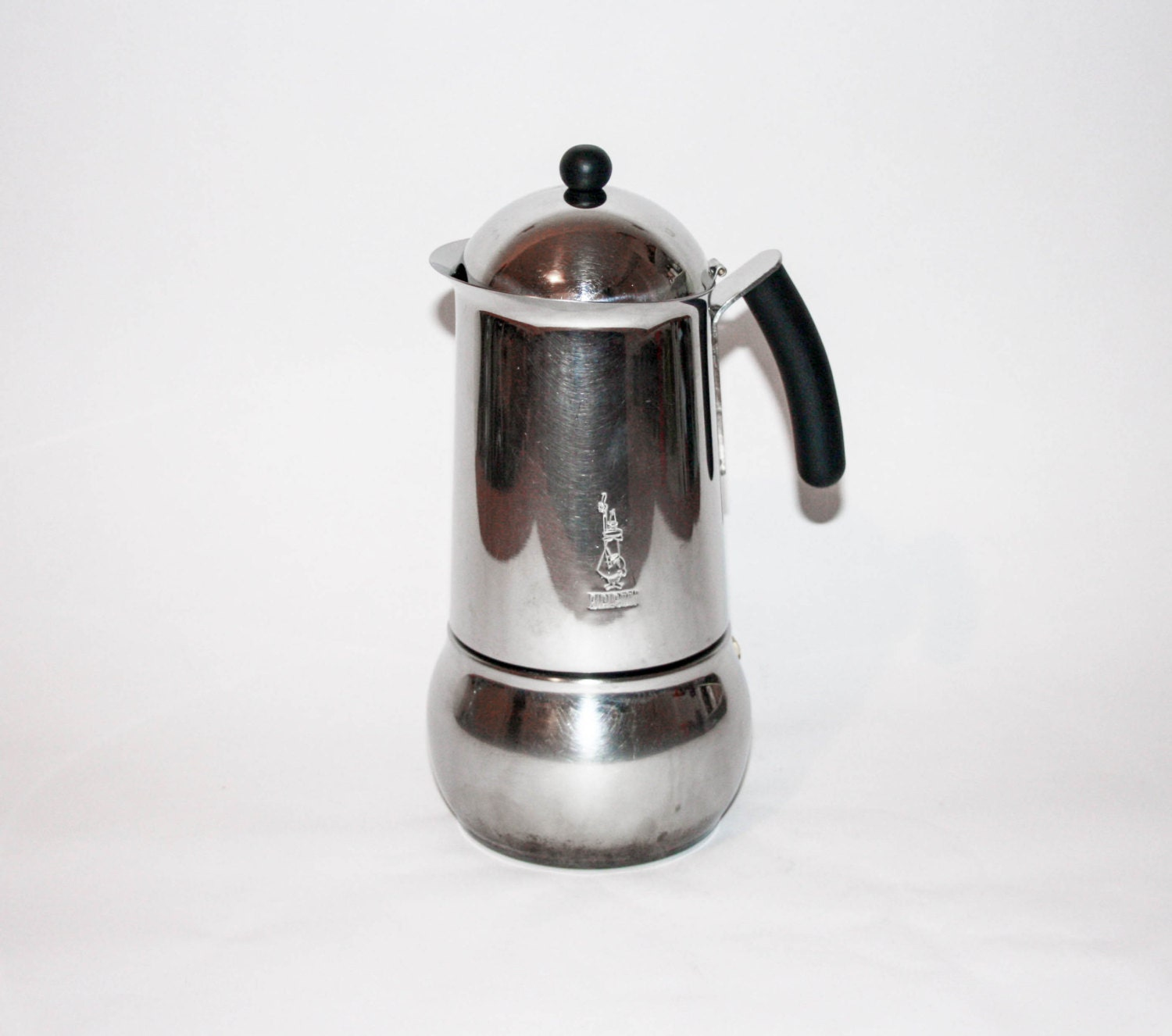 Italian Coffee Pot Maker Dies : Vintage Bialetti Stainless Steel Coffee Maker Made in Italy