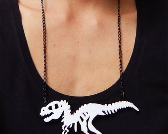 Super cool T-rex Necklace, Dinosaur jewelry