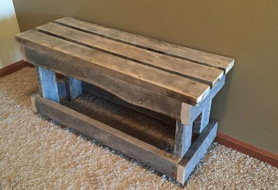 Rustic Wood Furniture Shoe Bench Shoe Rack Entryway Furniture
